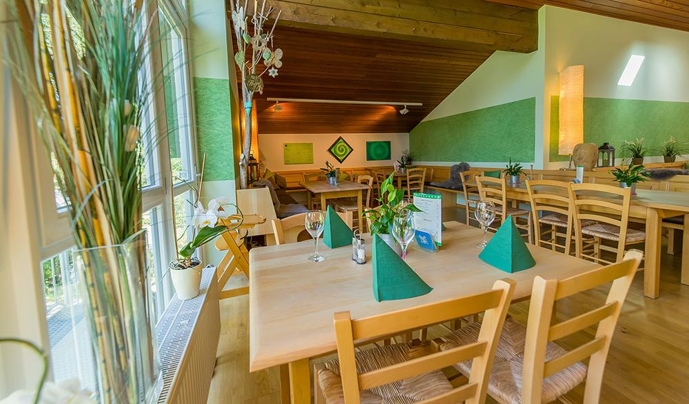 Das Bistro-Cafe von innen